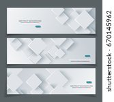 vector banner set with abstract ... | Shutterstock .eps vector #670145962
