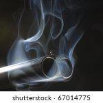both barrels of a shotgun that...   Shutterstock . vector #67014775