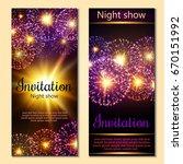 a set of 2 brochures of festive ... | Shutterstock .eps vector #670151992