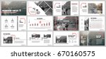 red and gray elements for... | Shutterstock .eps vector #670160575