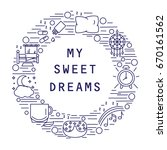 my sweet dream. icons of... | Shutterstock .eps vector #670161562