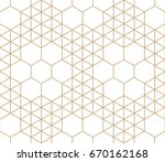 geometric hexagon and triangle...   Shutterstock .eps vector #670162168