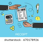 hand giving and receiving sales ... | Shutterstock .eps vector #670178926