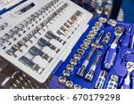 professional toolbox  heads and ... | Shutterstock . vector #670179298