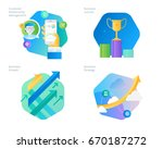 material design icons set for... | Shutterstock .eps vector #670187272