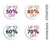 round button  banner discount....   Shutterstock .eps vector #670187455