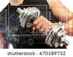 sport and biometric studies... | Shutterstock . vector #670189732
