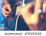 acoustic guitar and guitarist... | Shutterstock . vector #670192102