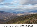 panoramic view of colorful... | Shutterstock . vector #670193362