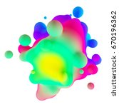 abstract 3d colorful gradient... | Shutterstock . vector #670196362