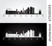 bordeaux skyline and landmarks...   Shutterstock .eps vector #670200355