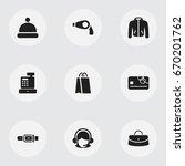set of 9 editable business... | Shutterstock .eps vector #670201762