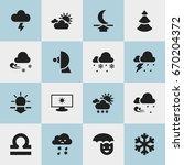 set of 16 editable climate...
