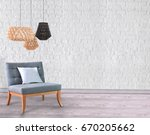 white living room brick wall... | Shutterstock . vector #670205662