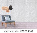 white living room brick wall... | Shutterstock . vector #670205662