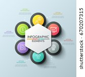 circular chart with 6 round... | Shutterstock .eps vector #670207315