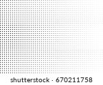 abstract halftone dotted... | Shutterstock .eps vector #670211758