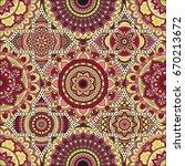 patchwork pattern. vintage... | Shutterstock .eps vector #670213672