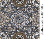 patchwork pattern. vintage... | Shutterstock .eps vector #670213825