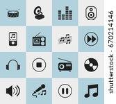 set of 16 editable sound icons. ...
