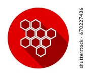 honeycomb honey comb icon... | Shutterstock .eps vector #670227436