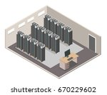 data center isometric vector... | Shutterstock .eps vector #670229602