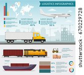 logistics infographic elements... | Shutterstock .eps vector #670229728
