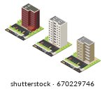 big set vector isometric... | Shutterstock .eps vector #670229746