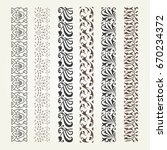 set of decorative seamless... | Shutterstock .eps vector #670234372