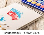 watercolor painting  special... | Shutterstock . vector #670243576