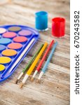 special painting tools on... | Shutterstock . vector #670243582