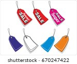 price tag  tag  label for the... | Shutterstock .eps vector #670247422