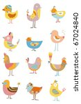 cartoon bird | Shutterstock .eps vector #67024840