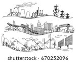 vector hand drawn illustration. ... | Shutterstock .eps vector #670252096