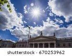 building exterior  capital... | Shutterstock . vector #670253962