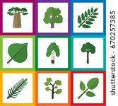 flat icon nature set of timber  ... | Shutterstock .eps vector #670257385