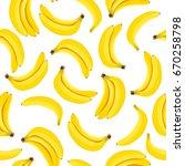 yellow banana seamless pattern. ... | Shutterstock .eps vector #670258798