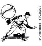 baseball pitcher   retro...   Shutterstock .eps vector #67026037