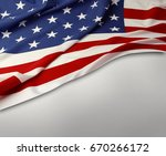 closeup of american flag on... | Shutterstock . vector #670266172