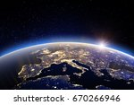 world   europe. 3d rendering.... | Shutterstock . vector #670266946