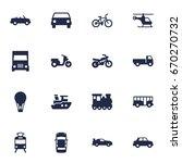set of 16 traffic icons set... | Shutterstock .eps vector #670270732