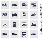 set of 16 transport icons set... | Shutterstock .eps vector #670270852