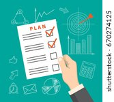 flat modern design concept of... | Shutterstock .eps vector #670274125
