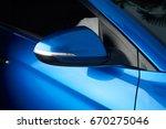 side car mirror close up.... | Shutterstock . vector #670275046