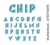 3d tech font. digital hi tech... | Shutterstock .eps vector #670276645