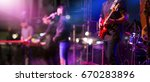 guitarist on stage for... | Shutterstock . vector #670283896