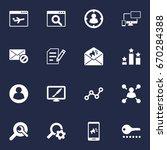 set of 16 optimization icons...