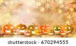 halloween pumpkin autumn leaves ...