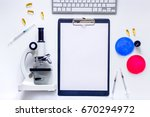 medical tests. work table of... | Shutterstock . vector #670294972