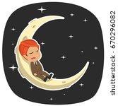 indian businessman is sleeping... | Shutterstock .eps vector #670296082